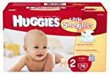 Huggies Little Snugglers Diapers, Size 2, 76 Count