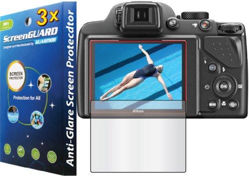 3X Nikon Coolpix P530 Digital Camera Premium Anti-Glare Anti-Fingerprint Matte Finishing Lcd Screen Protector Guard Shield Kit (No Cutting, Guarmor Brand)