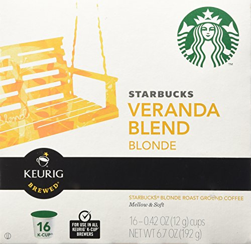 Starbucks Veranda Blend Blonde, K-Cup for Keurig Brewers, 16 Count (K Cups Starbucks Blonde compare prices)