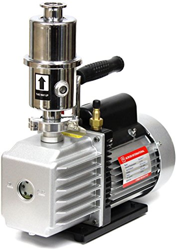 Across International EV7.110 Ai Easyvac 7 CFM Vacuum Pump with Exhaust Oil Mist Filter Fittings, 110V 370W (Oil Mist Filter compare prices)