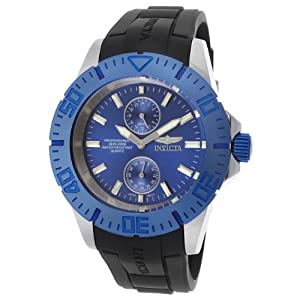 Invicta Men's 14387 Pro Diver Blue Dial Black Polyurethane Watch