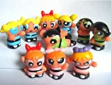 "Powerpuff Girls 10 Piece Figure Playset Featuring 10 Power Puff 1"" Figures Including Blossom, Bubbles, and Buttercup"