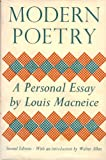 Modern Poetry: A Personal Essay (0198116748) by MacNeice, Louis