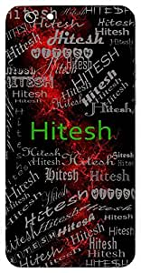 Hitesh (Hindu Boy) Name & Sign Printed All over customize & Personalized!! Protective back cover for your Smart Phone : Moto G-4-Plus