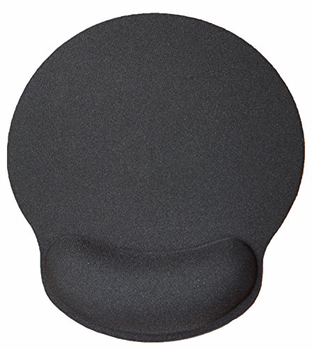 Silent Monsters ergonomic comfort mouse mat with gel wrist rest, black