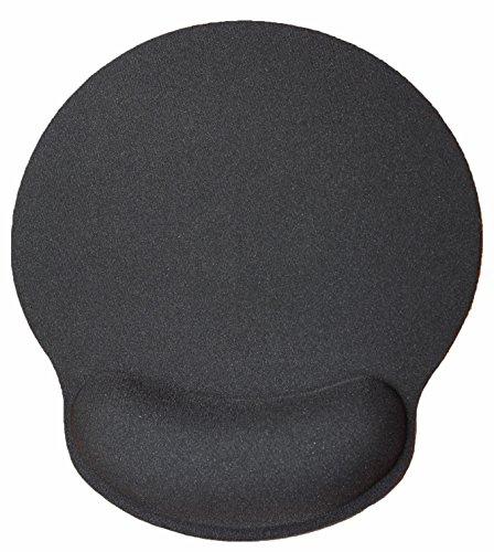 Silent Monsters Tappetino ergonomico per mouse comfort con poggiapolso in gel, nero