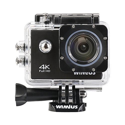Wimius-4K-Action-Cam-WIFI-WebCamera-Full-HD-1080P-16MP-Impermeabile-Sport-Camera-170--Grandangolare-20-Schermo-LCD-con-Vari-Accessori-Nero