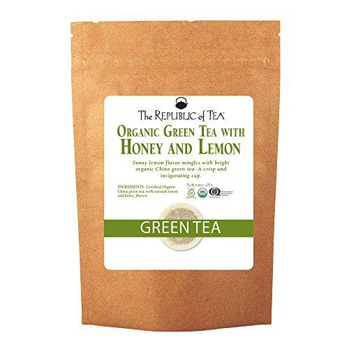 The Republic Of Tea Organic Usda Green Tea With Lemon And Honey Tea, 250 Tea Bags