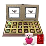 Valentine Chocholik Premium Gifts - Celebration Chocolate Box With Teddy And Love Card