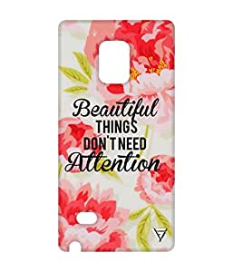 Vogueshell Beautiful Things Printed Symmetry PRO Series Hard Back Case for Samsung Galaxy Note 4