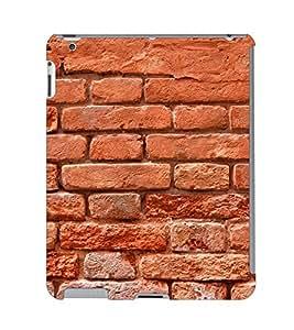 Fuson 3D Printed Brick Wall Designer Back Case Cover for Apple iPad 2 - D889