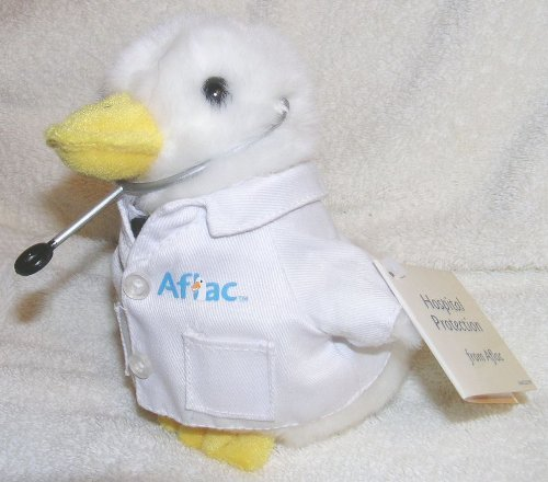 aflac-6-plush-doctor-duck-by-aflac