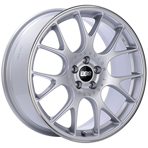 BBS CH-R Silver Wheel with Painted Finish and Polished Stainless Steel Rim (18x8.5