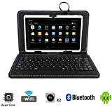 """Tagital® T7X 7"""" Quad Core Android 4.4 KitKat Tablet PC, Bluetooth, Dual Camera, Play Store Pre-installed, 2016 Newest Model Bundled with Keyboard White video review"""