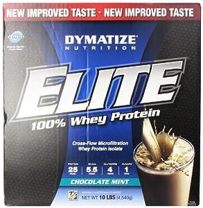 Dymatize Nutrition Elite Whey Shake, Chocolate Mint, 10 Pound