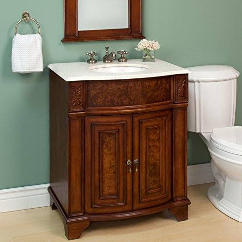 """30"""" Kinloch Vanity With Mirror - Cherry front-1024086"""