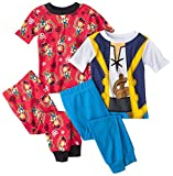 Disney Jake the Pirate Boys 4-piece Cotton Pajama Set, Toddler Sizes 2T-5T