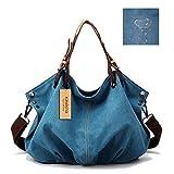 Kaylena ハンドバッグ 防水帆布 女性用 ギョーザの形 ブルー