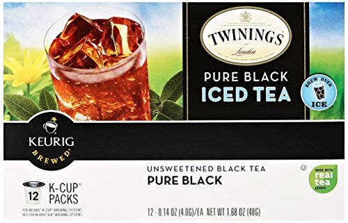 Twinings Pure Black Iced Tea, Keurig K-Cups, 12 Count (Coffee Black Tea compare prices)