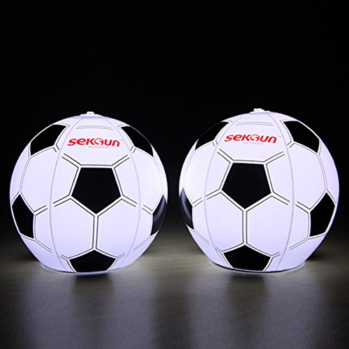 2 Units Of Soccer Ball Shaped Portable Solar Led Lantern- Inflatable,Waterproof, No Battery Needed, Perfect For Camping /Emergency/Decoration Light