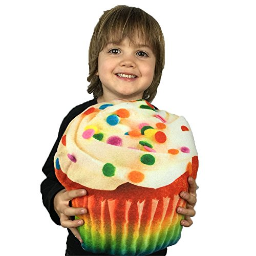Cupcake Novelty Food Throw Pillows Lifelike Designs - Easy to Clean (Ice Cream Cake Food compare prices)