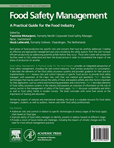 Food Safety Management: A Practical Guide for the Food Industry (Academic Press)