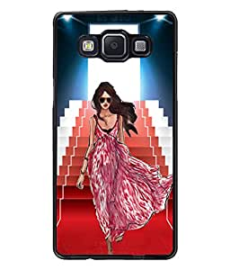 Fuson Ramp Walk Girl Back Case Cover for SAMSUNG GALAXY A5 - D4104