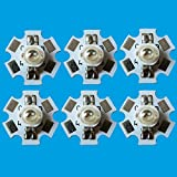 10 PCS 3W RGB Color High Power LED Light Emitter 4 pins with 20mm Star Base (Color: Rgb)