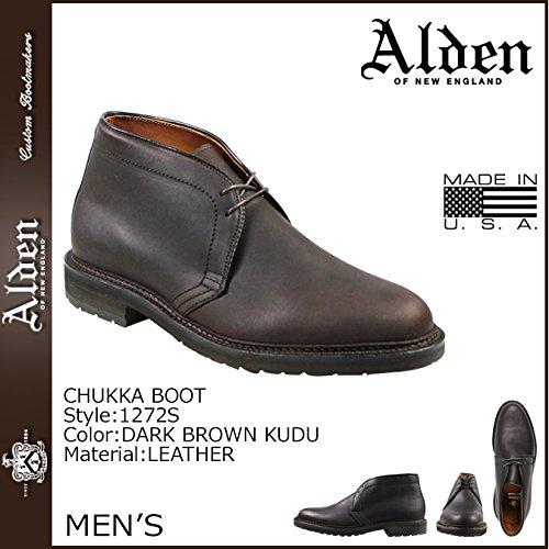 (オールデン)ALDEN 1272S CHUKKA BOOT チャッカブーツ ダークブラウン US10-28.0 (並行輸入品)