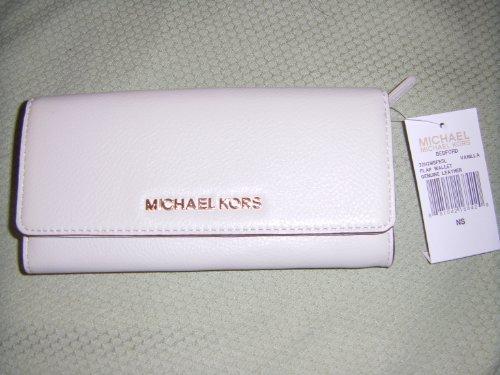 Michael Kors Bedford Flap Wallet -Vanilla