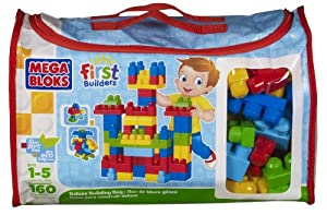 Mega Bloks First Builders Deluxe Building Bag 160-Piece from Mega Bloks
