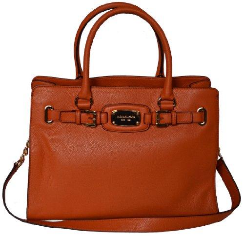 4ae10dcbc930 Michael Kors Tangerine Leather Hamilton Large EW Tote Handbag Shoulder Bag