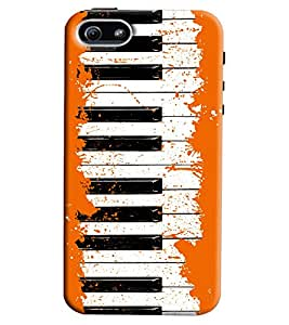 Blue Throat Fun Piano Pattern Printed Designer Back Cover For Apple iPhone 5s