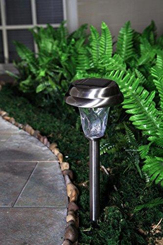 grand patio warm white led solar path lights wavy style. Black Bedroom Furniture Sets. Home Design Ideas