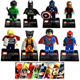 8pcs Super Heroes the Avengers Captan Am...