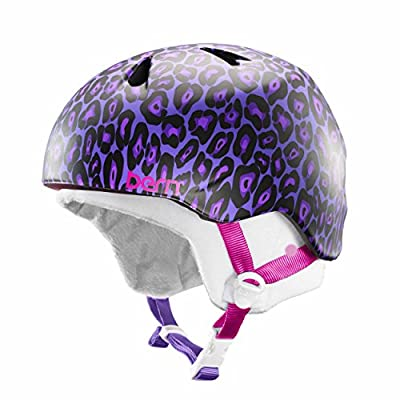 Bern Nina Girls Snow Bike Helmet Lavender Leopard JGSLL Small Medium by Bern