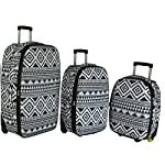 Frenzy Lightweight Cabin Approved Hard Wearing Luggage Bag, 3 piece set - 18