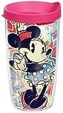 Tervis Pop Wrap Tumbler with Fuchsia Lid, 16-Ounce, Disney Minnie Mouse