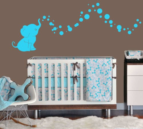 17 Adorable Ways To Decorate Above A Baby Crib: Best Elephant Wall Stickers: From Nursery Wall Decals To