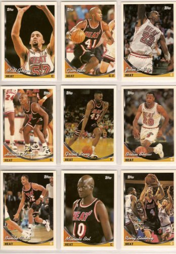 miami-heat-1993-94-topps-basketball-team-set-glen-rice-john-salley-matt-geiger-brian-shaw-grant-long