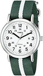 Timex Unisex TW2P683009J Weekender Varsity Row Analog Display Quartz Green Watch