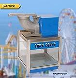 "Benchmark 71000 Snowbank Snowcone Machine, 120V, 635W, 5.3A, 500 lbs/hr, 16"" Width x 24"" Height x 16"" Depth"