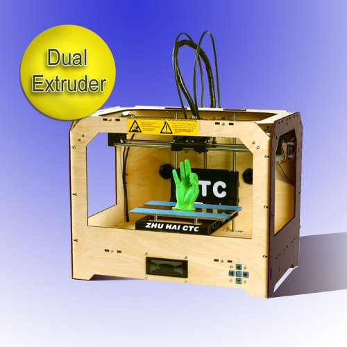3D Printer New Desktop Rapid Prototyping personal protable ?Digital printing 3d-printer ABS/PLA dual-nozzle 3d printer machines (Contain 2x 1.75mm 1kg/2.2lb ABS Filament)