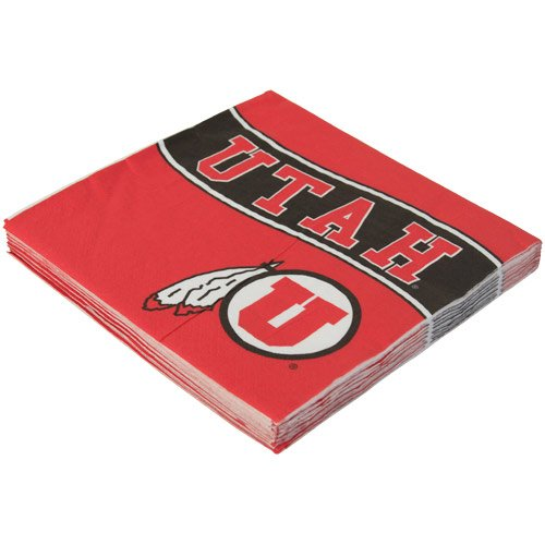 NCAA Utah Utes 16-Count Luncheon Napkins - 1