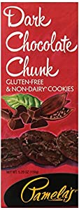 Pamela's Products Gluten Free Organic Cookies, Dark Chocolate, 5.29-Ounce Boxes (Pack of 6)
