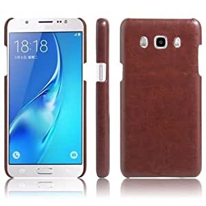 MEEPHONG (TM) Series Premium Back Cover For Samsung galaxy J7 ( 2015 ADITION) (Brown)