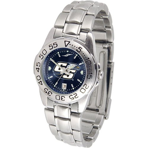 Suntime Georgia Southern Eagles Ncaa Anochrome Sport Ladies Watch Metal Band