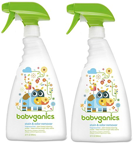 Babyganics Stain & Odor Remover, 32 Ounce, 2 Pack - 1