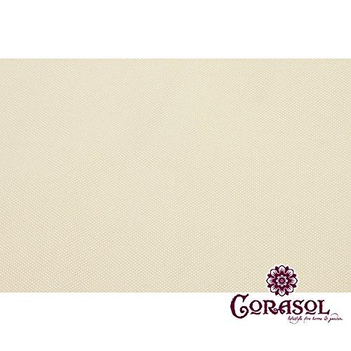 Corasol COR11TR5-CW - Vela de sombra para patio (resistente al agua), color beige, 5 x 5 x 5 m