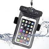 Mopo 防水 ケース アームバンド スマホ用 羅針盤付き カメラ撮影可能 iPhone 6S/6S Plus/6/ Samsung Galaxy/Nexus/Sonyなど対応 (ブランク)